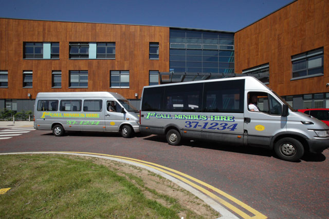 For competitive rates on minibus hire, call 01685 37 1012