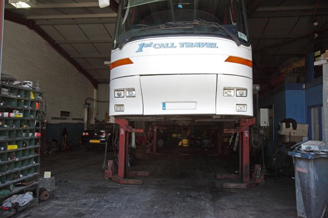 We have a large fleet of vehicles so any being repaired won't affect your travel. Call 01685 37 1012