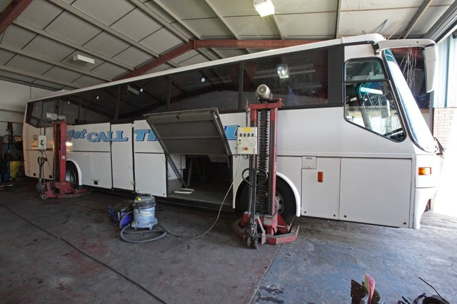 Trust a coach company that carries out its own repairs. Call 01685 37 1012