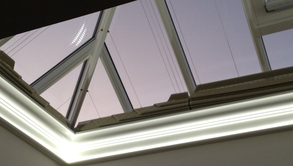 lighting around skylight