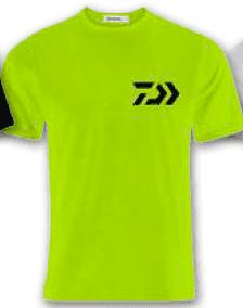 T-shirt Daiwa Crew Lime/BK 100% Cotone Art. WTSDL