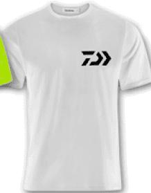 T-shirt Daiwa Crew White/BK 100% Cotone Art. WTSDB