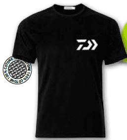 T-shirt Daiwa Crew Black/WH 100% Cotone Art. WTSDN