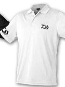 Polo Daiwa Crew White/BK 100% Cotone Art. WPLDBN