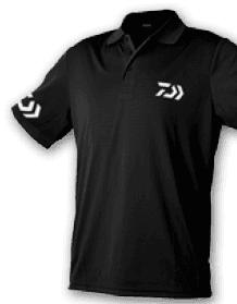 Polo Daiwa Crew Black/WH 100% Cotone Art. WPLDNB