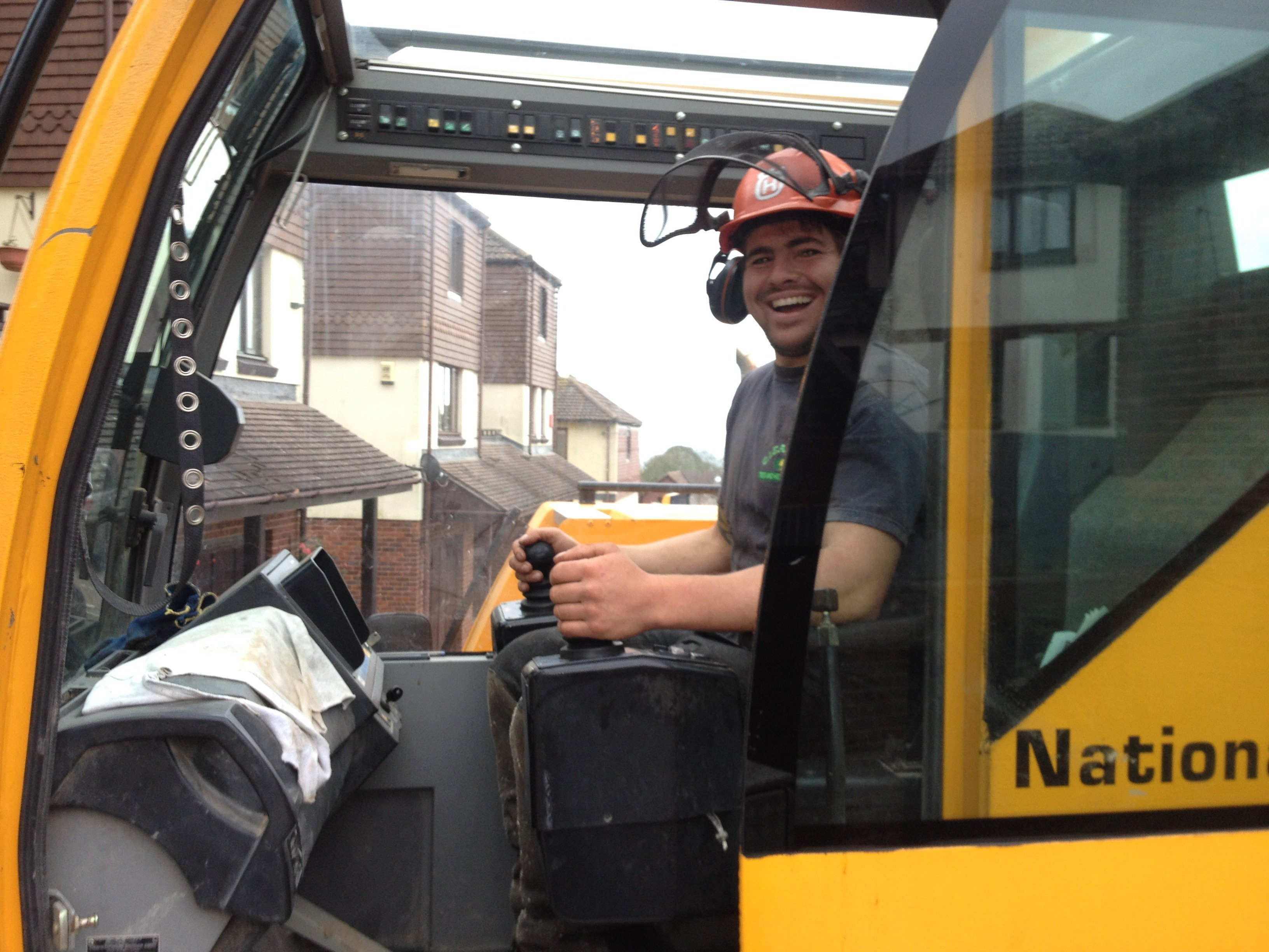 tree surgeon smiling