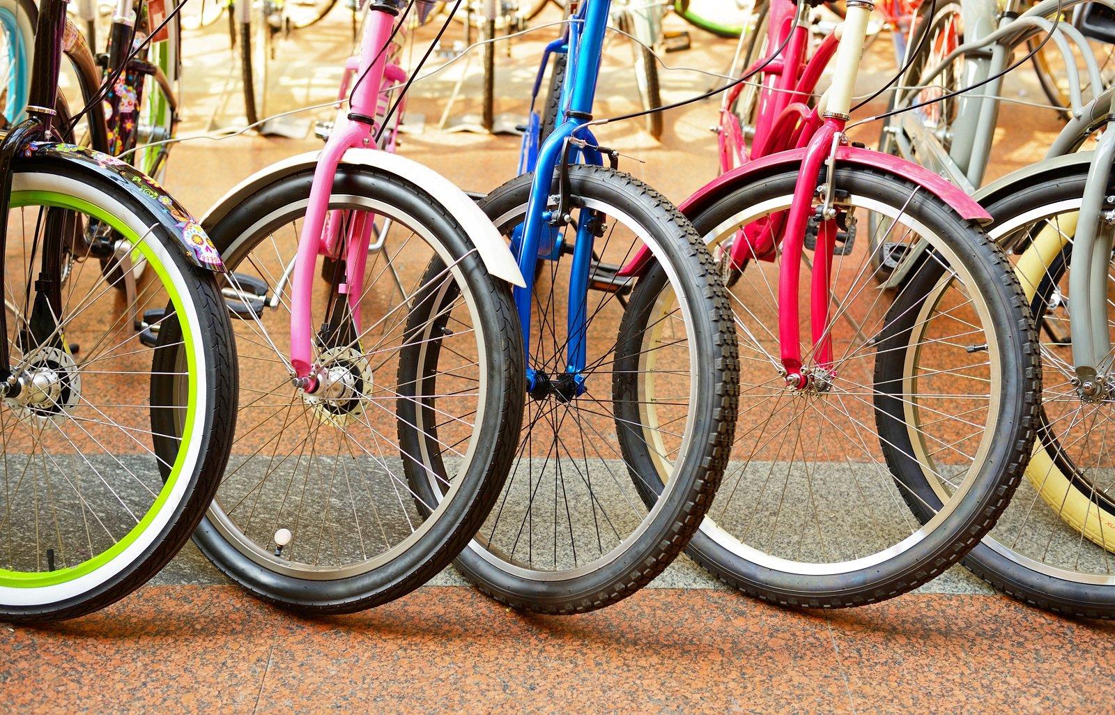 ruote anteriori delle bici