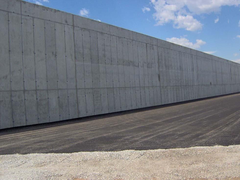 Muro trincea - edilizia agro-industriale