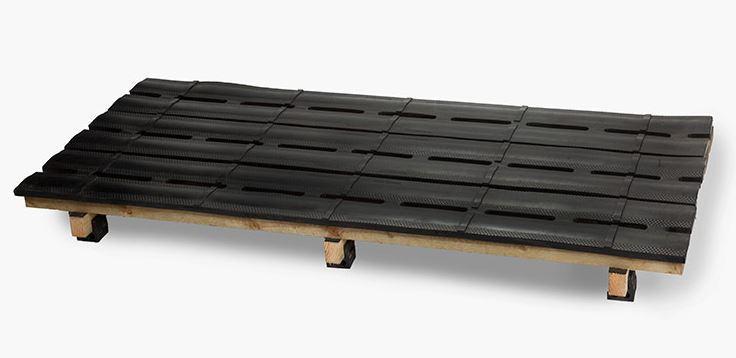slat rubber mat