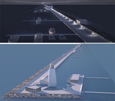 Concorso di idee per la riqualificazione della diga foranea del golfo di La Spezia.
