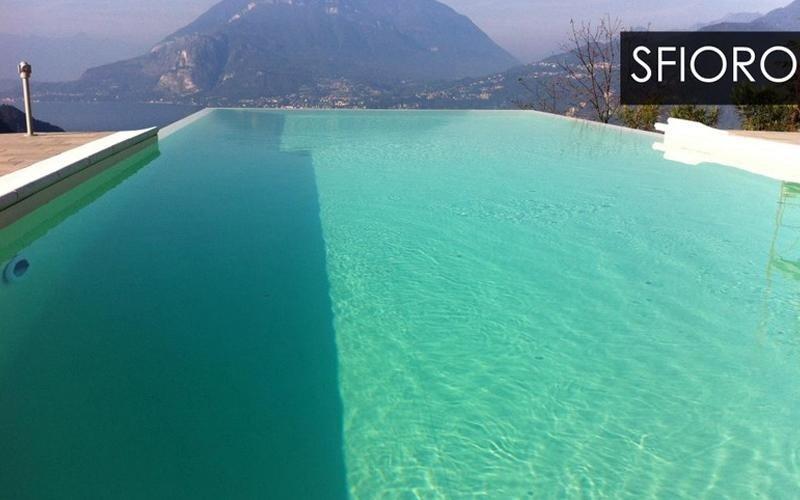 piscine con sistema a sfioro milano