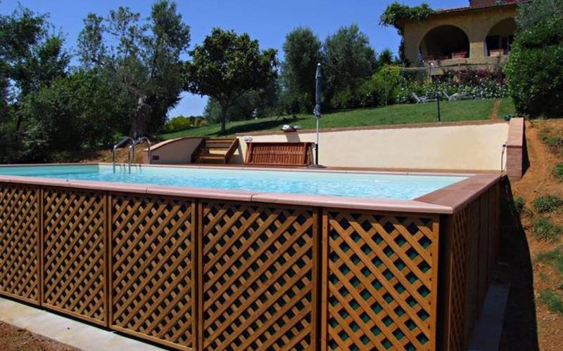 piscina privata fuori terra milano