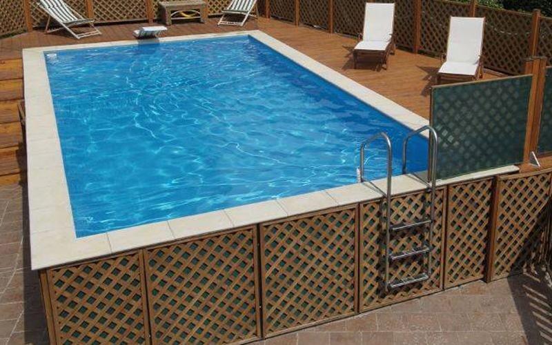 piscina fuori terra su misura milano