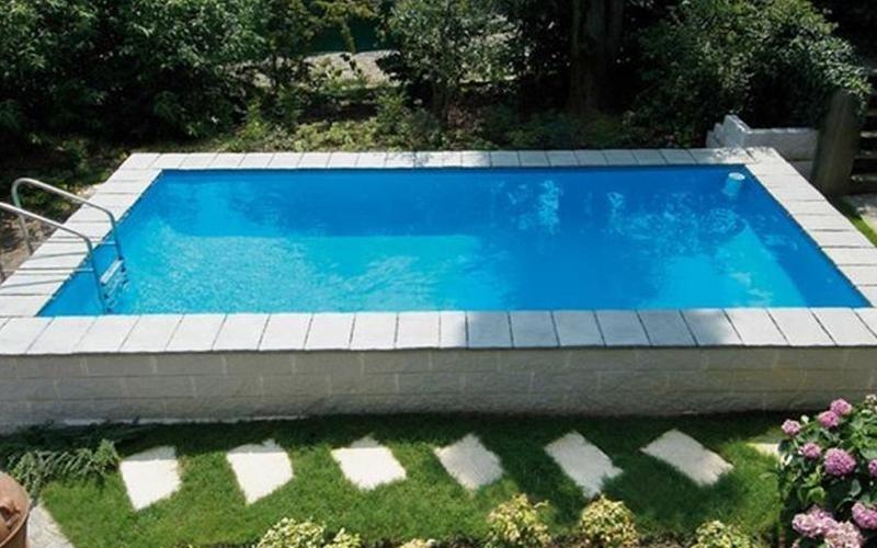 piscina fuori terra in pietra milano