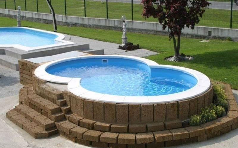 piscina sopra terra design per la casa