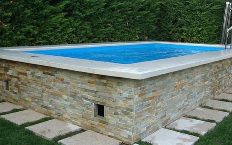piscina fuori terra in muratura milano
