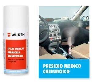 Prodotto igienizzante per auto marca Würth