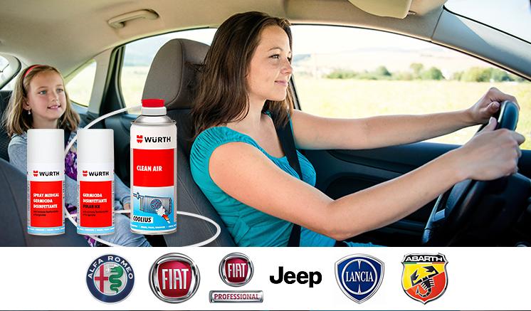 Locandina di prodotti per la manutenzione dell'auto