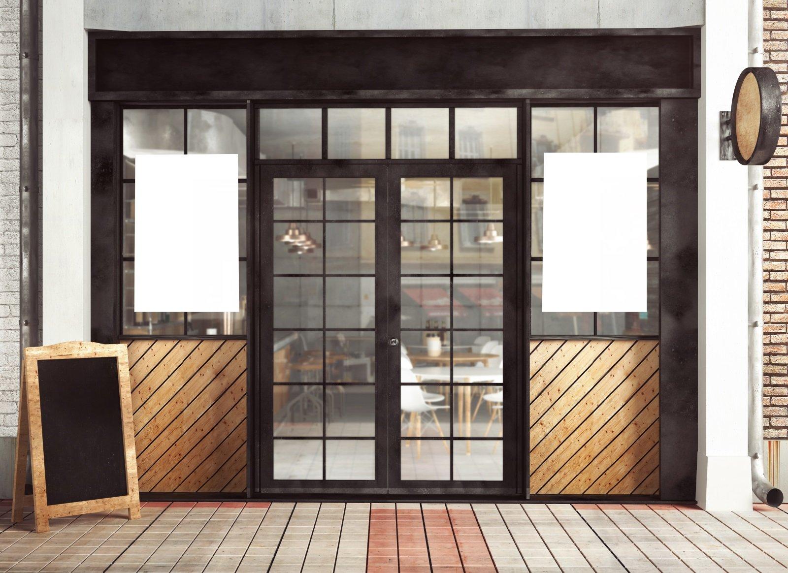 Porte per esterno di ferro e vetro