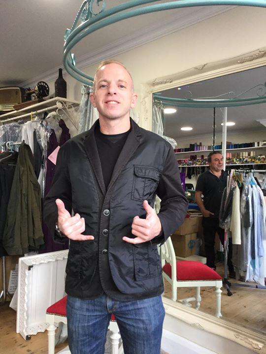 Happy customer after a major jacket alteration