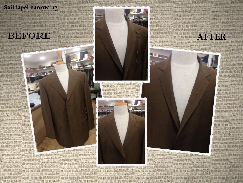 Suit lapel alteration