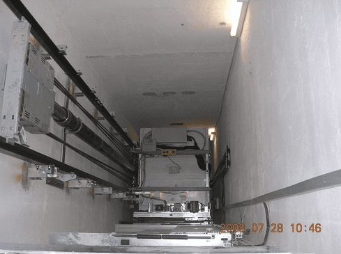 Meccanismo salita e discesa ascensore