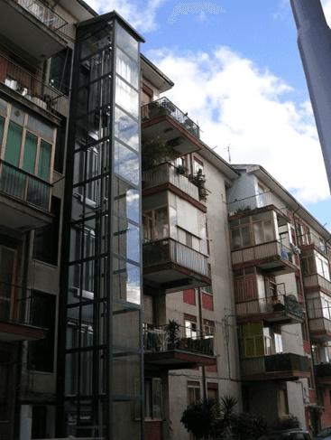 ascensore case ringhiera