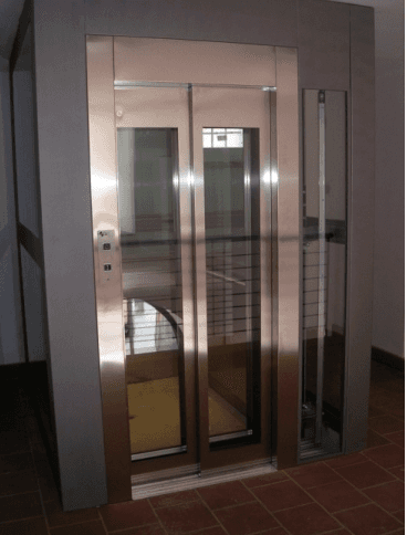 Ascensori porte in vetro
