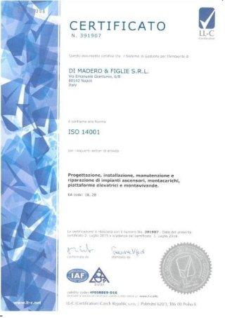 Certificata 14001