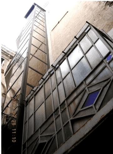 Vano corsa ascensore civile