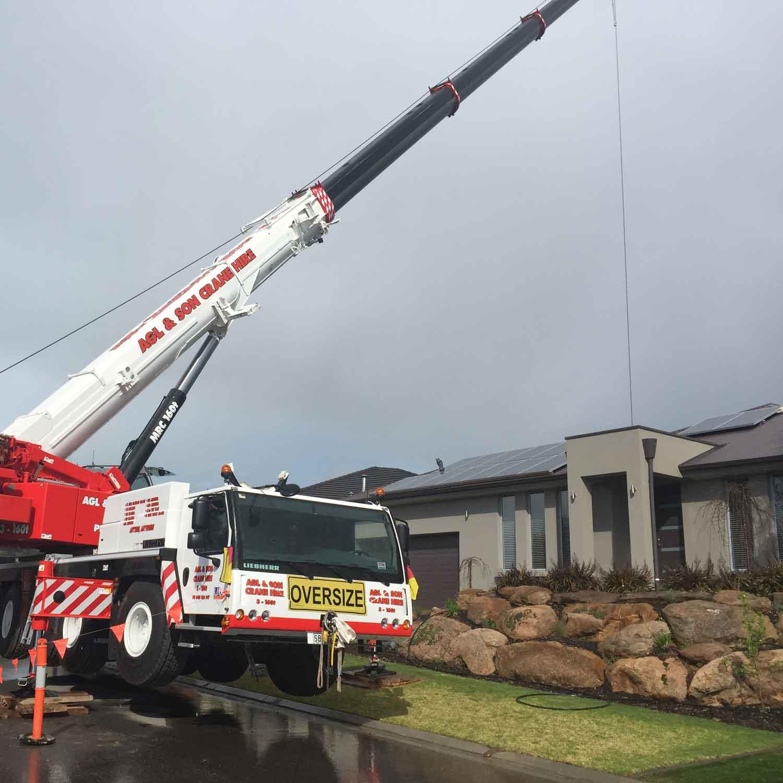 crane lifting a doorframe