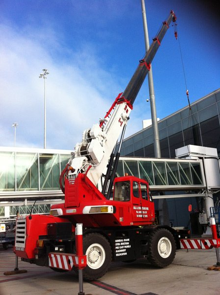 crane at airport