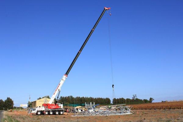 one tall crane
