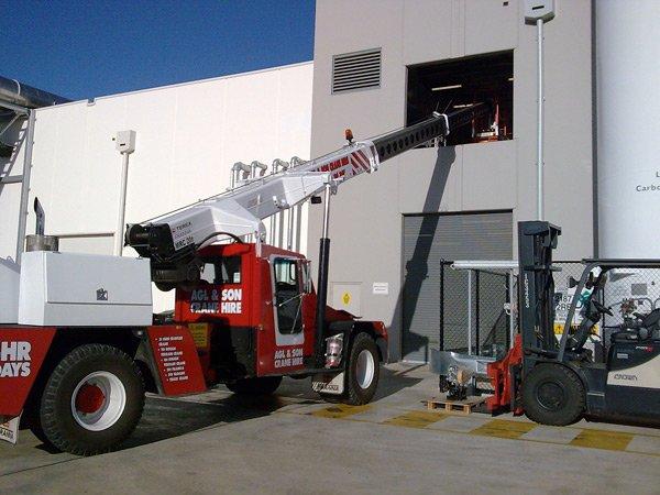 crane in building