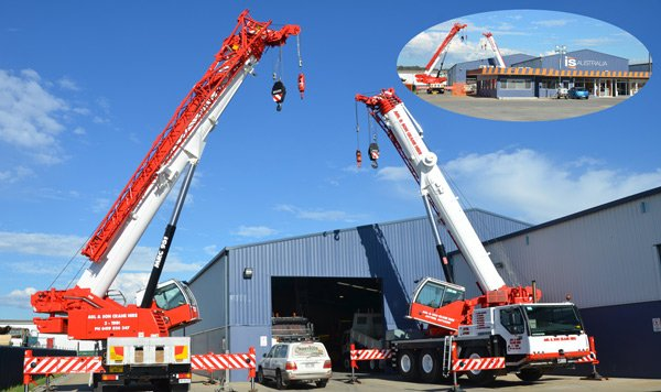 cranes with inset