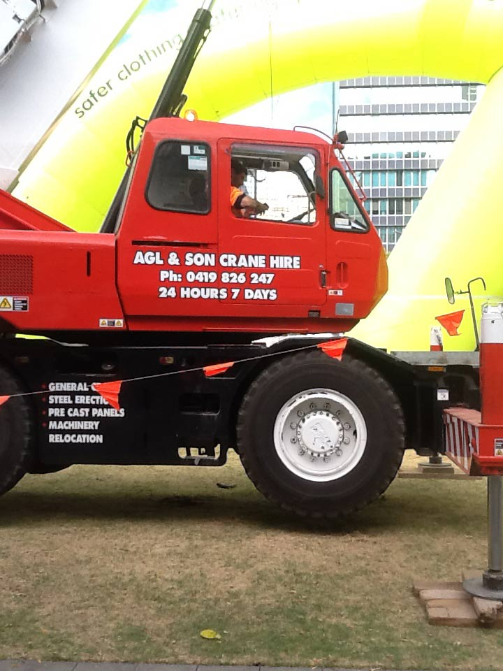 giant red truck