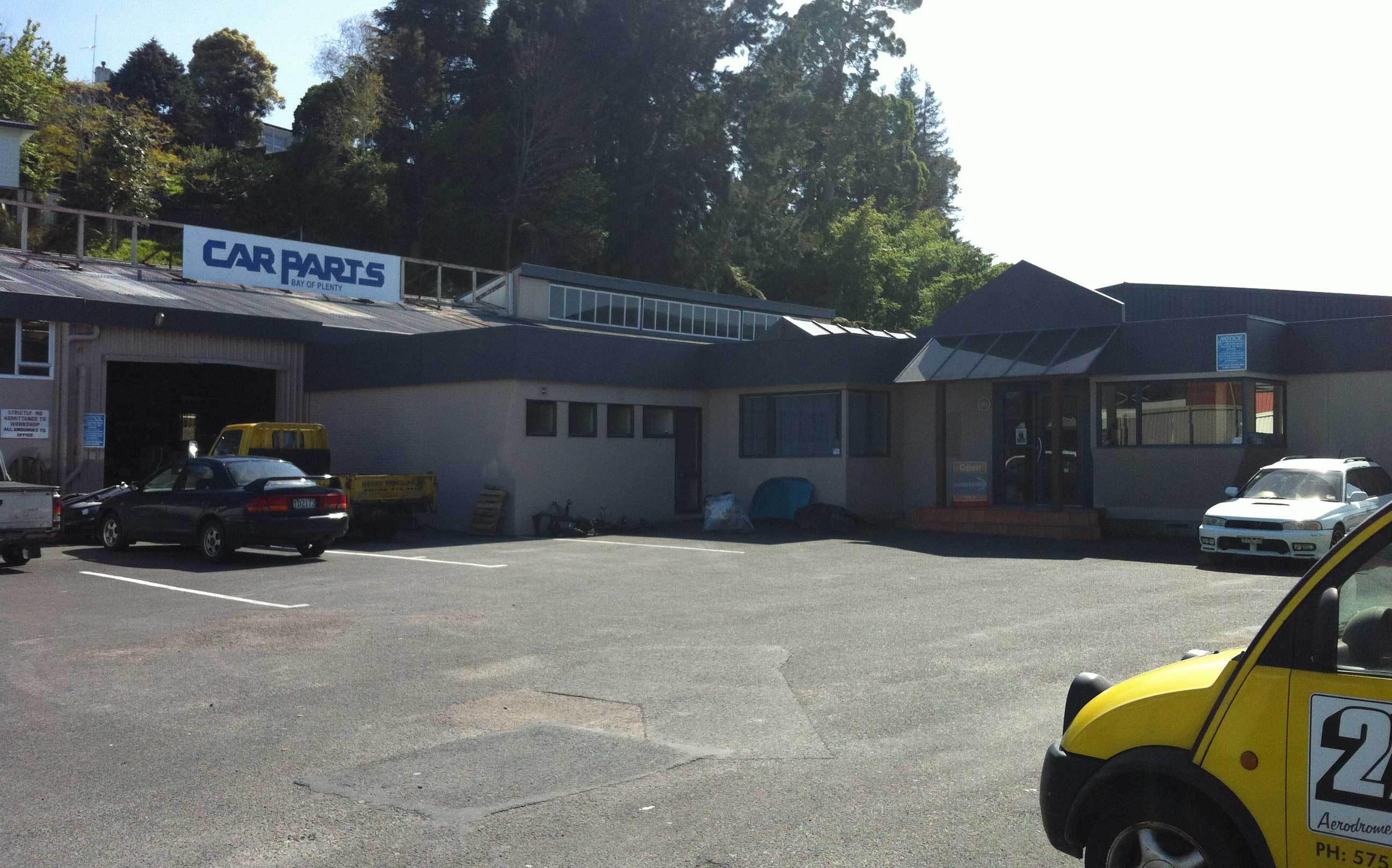A range of car parts at Mount Wrecking Company in Tauranga