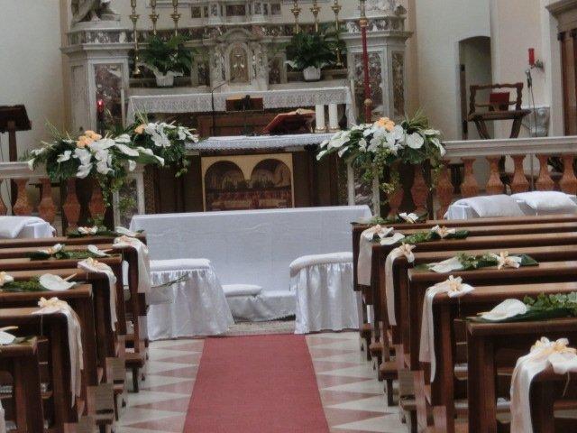 interni addobbati chiesa di camponogara