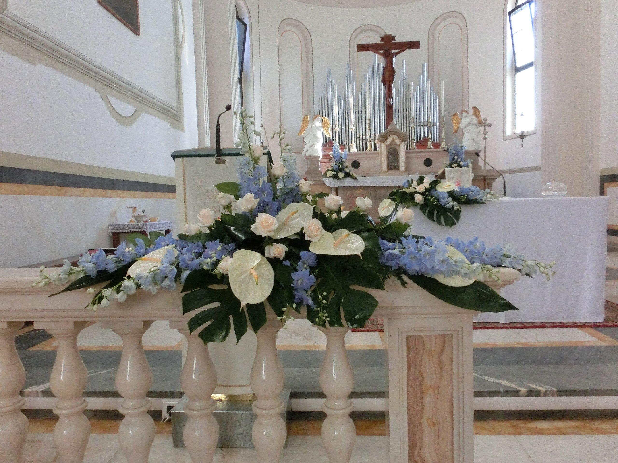 addobbi floreali per matrimonio alla chiesa di prozzolo