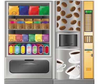 commercio distributori di snack