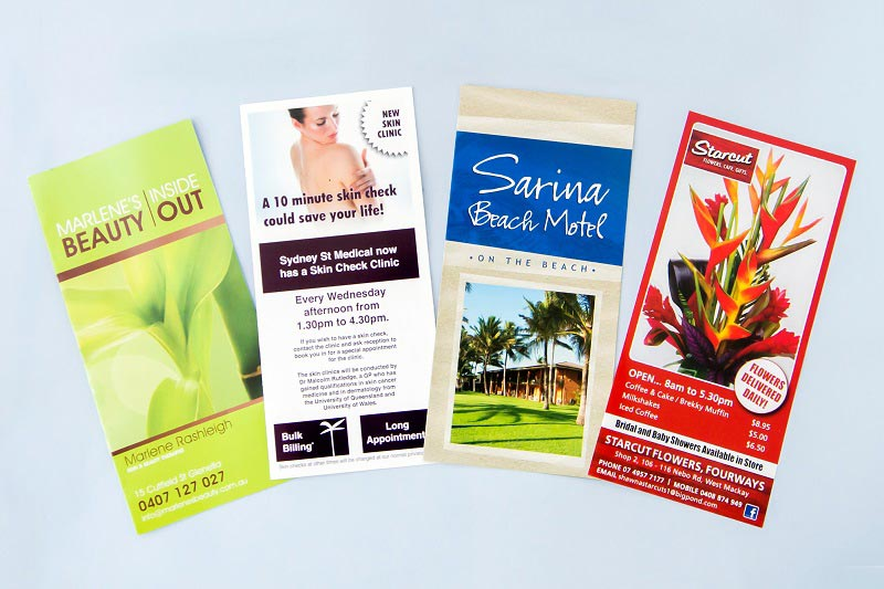 three page brochures