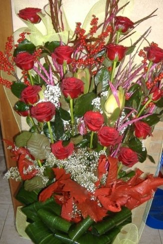 vaso rose rosse