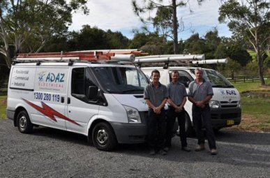 adaz electrical our business van and staff