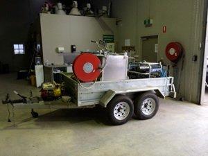 high pressure wash cart