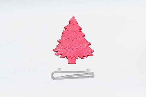 Un alberello di Natale rosa
