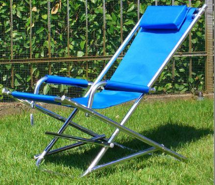 sedia a sdraio da campeggio blu a Stanghella, PD