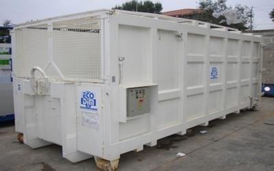 un container bianco