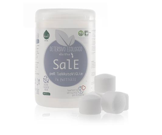 Sal naturale in pastiglie per lavare
