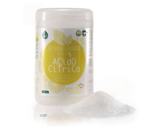 Acido citrico in polvere per disinfettare