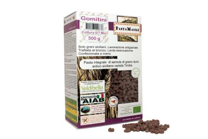 una confezione di pasta integrale di semola di grano duro